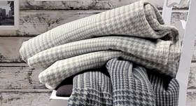 Naturfasern Kuscheldecke aus Baumwolle und Schafwolle-Schurwolle