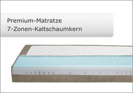 Premium Kaltschaum-Matratze für Boxspringbetten mit Livorno-System
