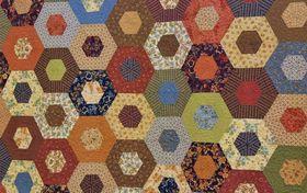 Quilt mit sechseckigem Muster