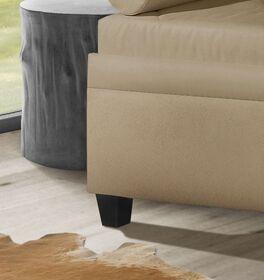 Relaxliege Kamina Komfort mit schlichten dunklen Holzfüßen