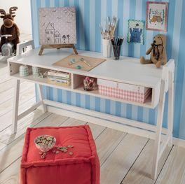 Retro-Schreibtisch Kids Paradise höhenverstellbar mit stabiler konstruktion