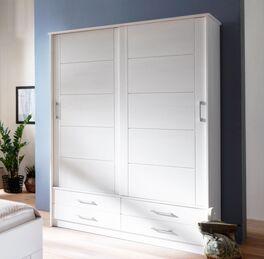 Moderner Schiebetüren-Kleiderschrank Ottena in Weiß