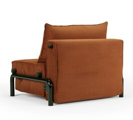 Schlaf-Sessel Naoto mit orangefarbenem Bezug