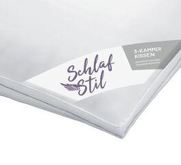 SCHLAFSTIL 3-Kammer Daunen-Kissen D1000 in Luxus-Qualität