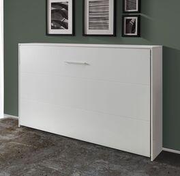 Schlichtes Schrankbett Tampico in Weiß