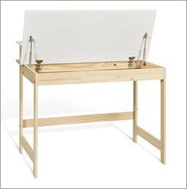 Schreibtisch Erin mit weißer Tischplatte aus MDF
