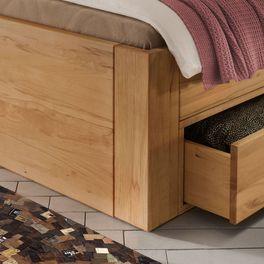 Schubkasten-Bett Aurach mit massivem Eckfuß