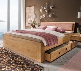 Langlebiges und stabiles Schubkasten-Bett Aurach