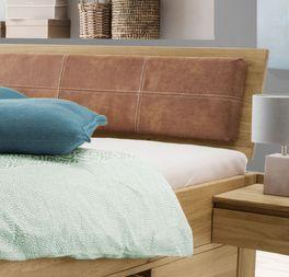 Schubkasten-Bett Blumaus Kopfteilpolster mit Ziernaht