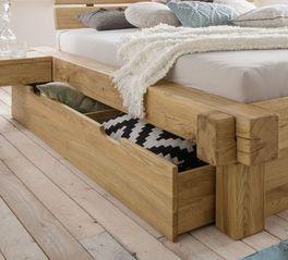 Schubkasten-Bett Doba mit praktischen Griffmulden in der Bettschublade