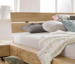 Schubkasten-Bett Doba mit geneigtem Kopfteil für mehr Komfort