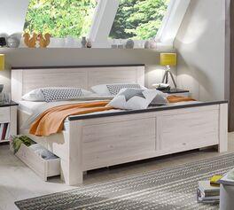 Schubkasten-Bett Grom aus Spanplatte in Holzoptik
