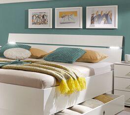 Schubkasten-Bett Kiraly mit Kopfteil-Beleuchtung