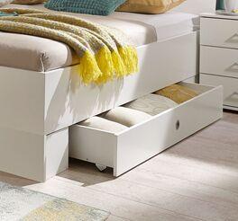 Schubkasten-Bett Kiraly mit Stauraum-Möglichkeit