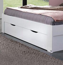 Schubkasten-Bett Leilani mit Schubfächern im Fußbereich