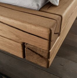 Schubkasten-Bett Romeno mit natürlichen Rissen