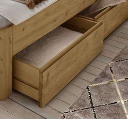 Schubkasten-Bett Wila metallfrei mit geräumigen Schubfächern