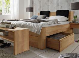 Schubkasten-Doppelbett Zarbo mit ausreichend Stauraum