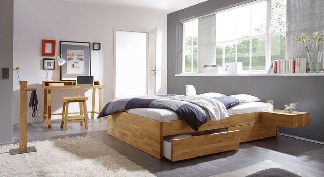 Schubkasten-Liege Manchester mit passenden Schlafzimmermöbeln