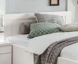 Schubkasten-Seniorenbett Calimera inklusive Kopfteil mit abgerundeten Ecken