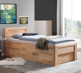Schubkasten-Seniorenbett Ewen mit eleganter Seitenblende