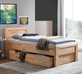 Schubkasten-Seniorenbett Ewen mit praktischem Stauraum