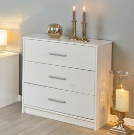 preiswerte schubladen kommode aus wei lackierter kiefer. Black Bedroom Furniture Sets. Home Design Ideas