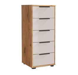 Schubladen-Kommode Leandra oben mit Holzschublade