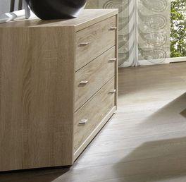 Schubladen-Kommode Oakville mit Holzdekor Front