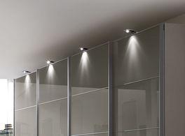 Schwebetueren-Kleiderschrank Dilly mit LED-Aufbauleuchte