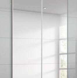 Schwebetüren-Kleiderschrank Jelica mit Spiegel und schmalen Griffleisten