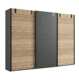 270cm breiter Schwebetüren-Kleiderschrank Midori