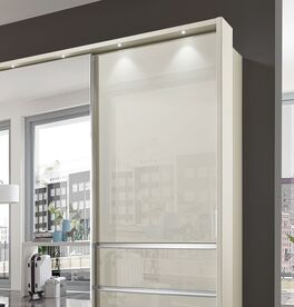 Moderner Schwebetüren-Kleiderschrank Ramsey mit Glasfront