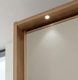 Schwebetüren-Kleiderschrank Seabrook mit integrierter Beleuchtung