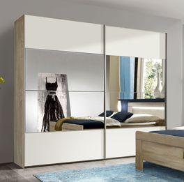 Schwebetüren-Kleiderschrank Seymour in zeitlosem Design
