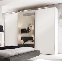 Schwebetüren-Kleiderschrank Sudbury mit eleganten Chromleisten
