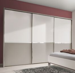 Schwebetüren-Kleiderschrank Tulsa mit dekorativem Rahmen