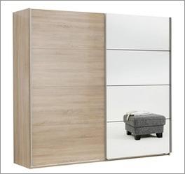 Schwebetüren-Kleiderschrank Turania mit leichtgängigen Türen