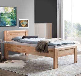 Seniorenbett Ewen aus parkettverleimtem Holz