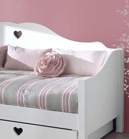 Weißes Sofa-Ausziehbett Asami im Landhausstil