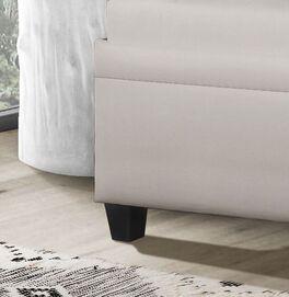Sofaliege Kamina Komfort mit schwarzen Füßen