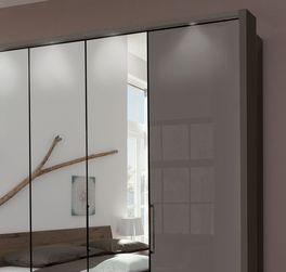 Spiegel-Falttüren Kleiderschrank Southville mit optionaler Beleuchtung