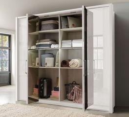 Spiegel-Falttüren-Kleiderschrank Westville inklusive Einlegeböden