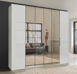 Spiegel-Falttüren-Kleiderschrank Westville ohne Rahmen