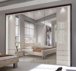 Spiegel-Funktions-Kleiderschrank Northville in elegantem Champagnerfarbton
