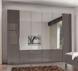 Spiegel-Kleiderschrank Harrow mit großen Schubladen