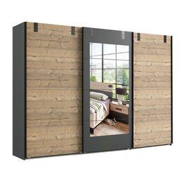 Trendiger Spiegel-Schwebetüren-Kleiderschrank Midori mit 270 cm Breite