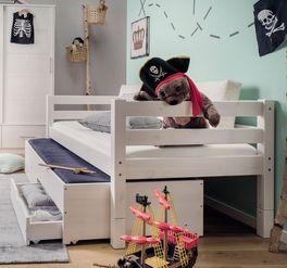 Stauraum-Ausziehbett Kids Paradise mit funktionaler Konstruktion