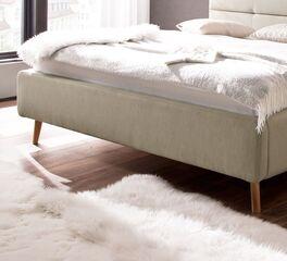 Stauraumbett Kromera mit Bettbeinen aus Massivholz