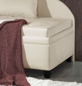 Studioliege Kamina Komfort mit eleganten Holzfüße